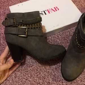 Just Fab booties- Size 6